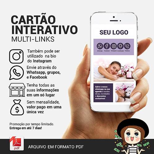 Cartão interativo multi-links para redes sociais