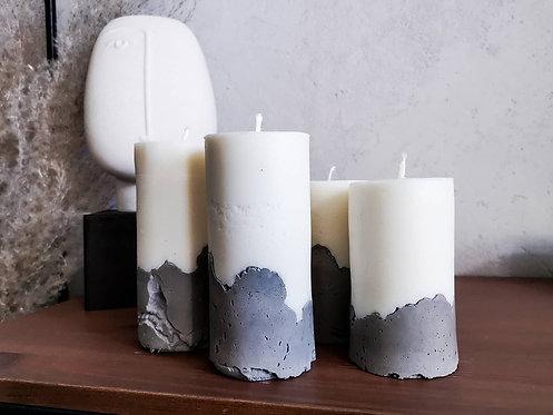 Świeca sojowa w betonie