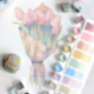 How pretty are these pastels_! I admit,