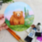 Want to paint a bear with me_ Or maybe a