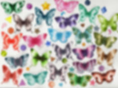 Butterfly Watercolor Swatches
