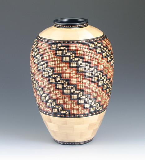 3D basket weave vase