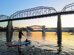 Sunset SUP bridges