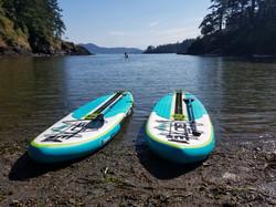 2 paddleboards