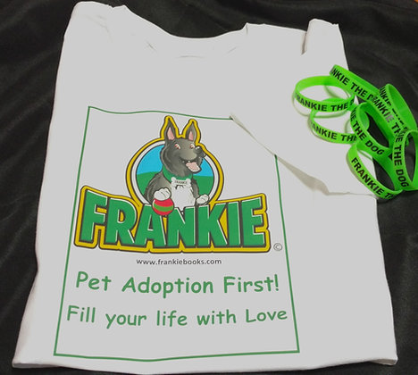 "Frankie's ""Pet Adoption First!"" T-shirt"