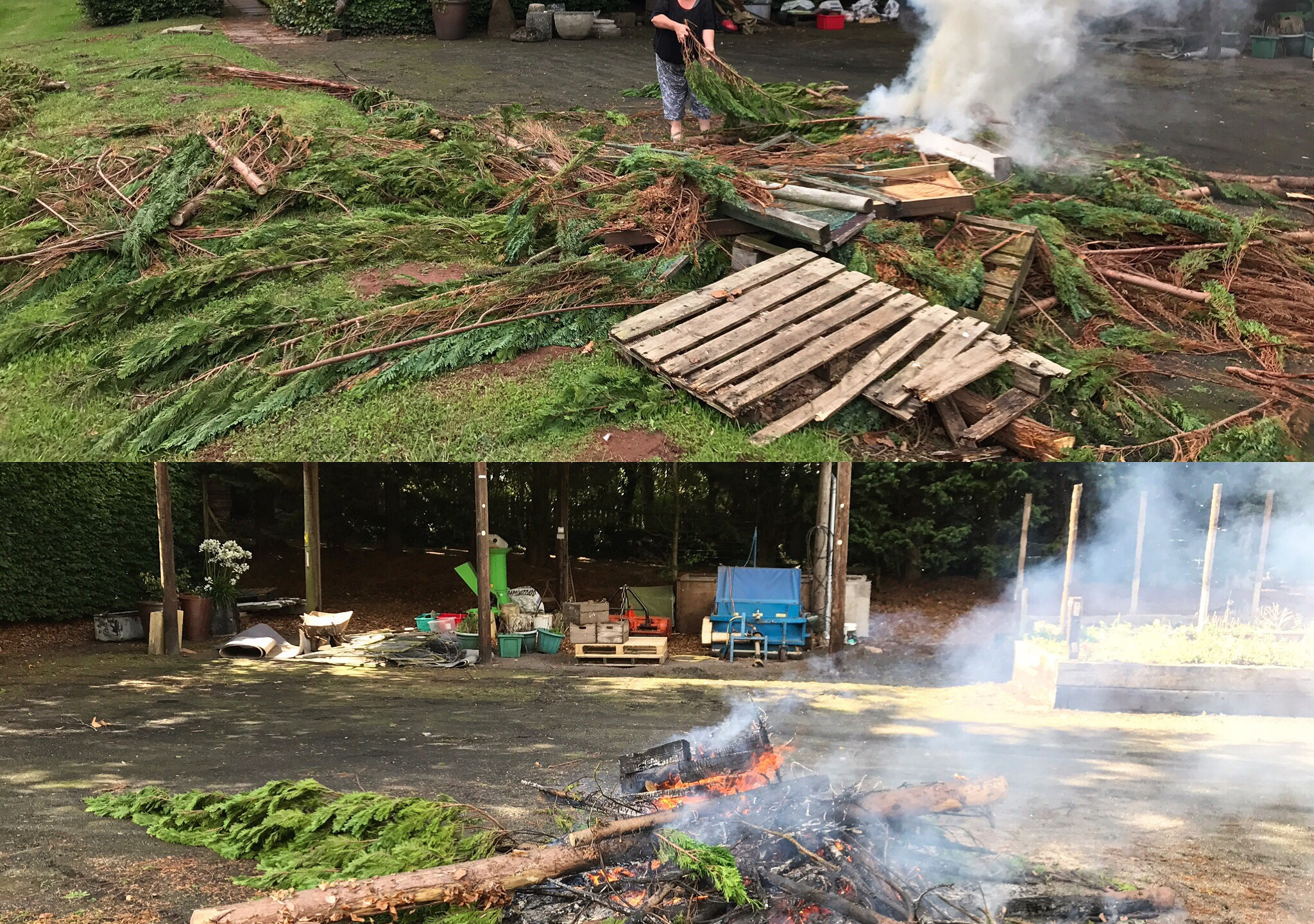 Clearing the debris