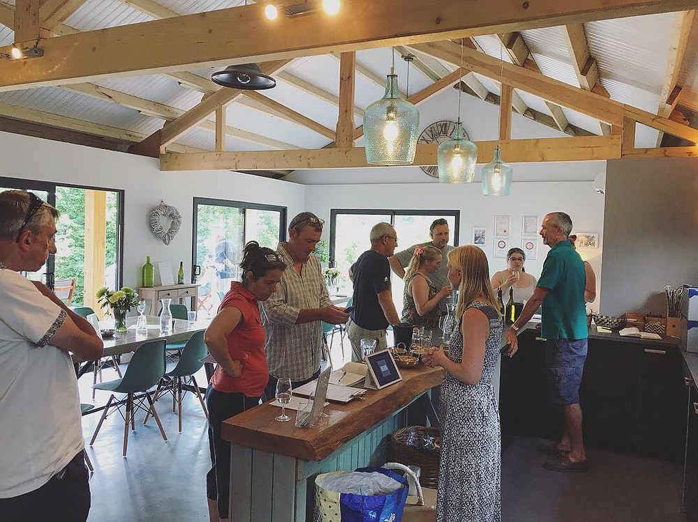 A busy cellar door