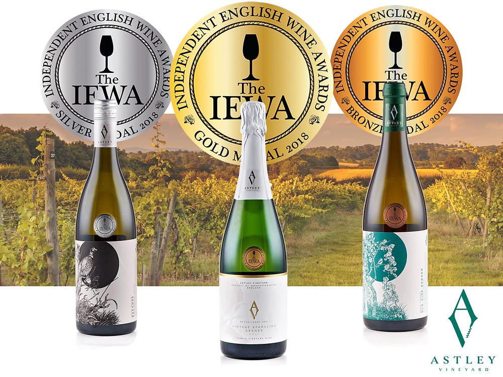 Astley Vineyard - IEWA 2018 medals