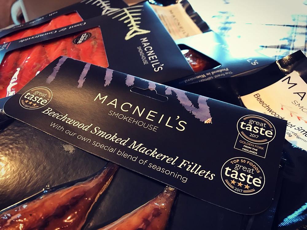Macneil's Guild of Fine Food awarded mackerel