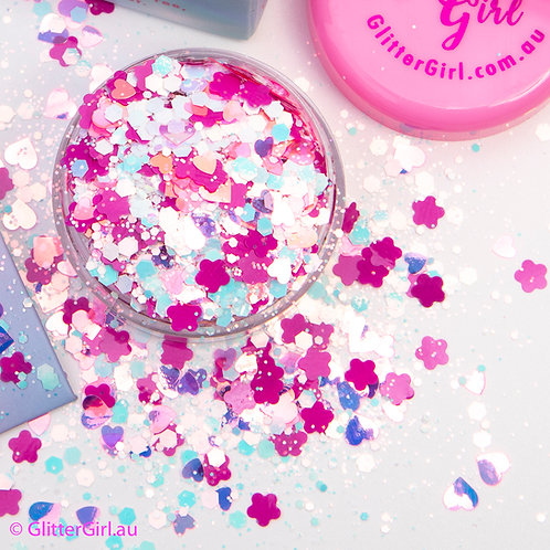 Glitter Girl Unicorn Glitter –  Coconut Ice 5g Pouch