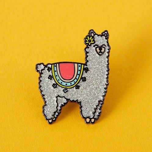 Fluffy Llama Lapel Pin