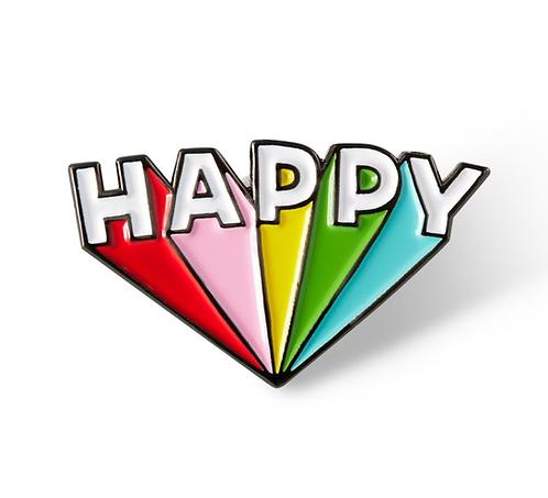 Happy Lapel Pin