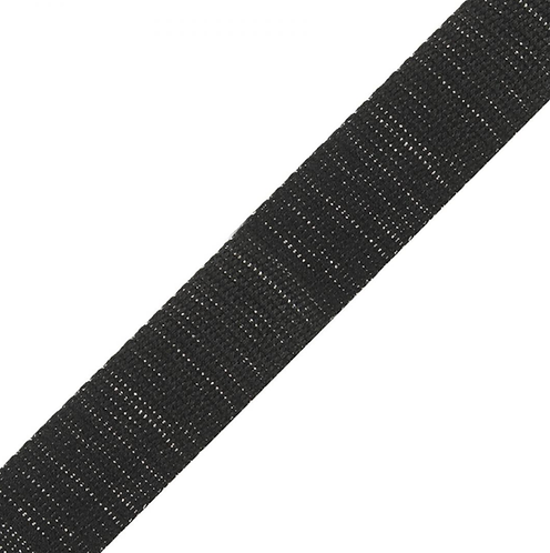 Black/Silver Shimmer Webbing