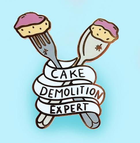 CAKE DEMOLITION EXPERT LAPEL PIN