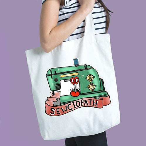 SEWCIOPATH CANVAS TOTE BAG