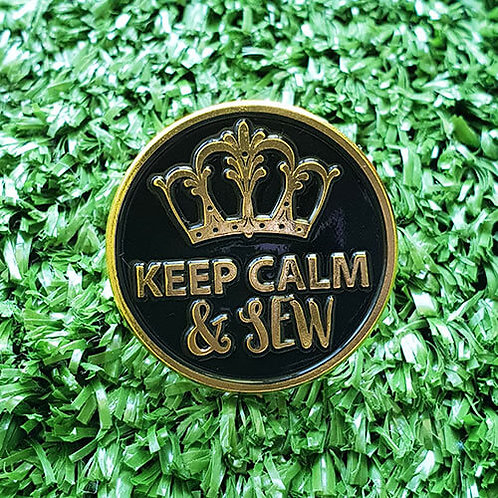 Keep Calm and Sew Enamel Pin