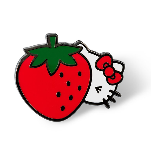Hello Kitty Cheeky Strawberry Lapel Pin