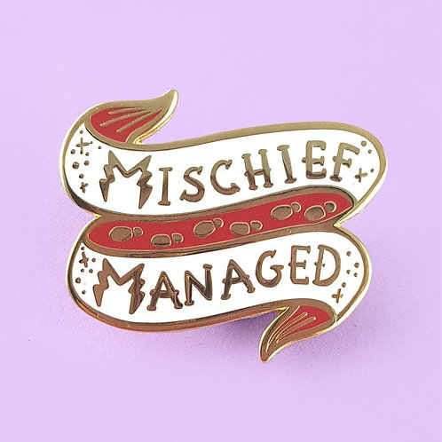 MISCHIEF MANAGED LAPEL PIN