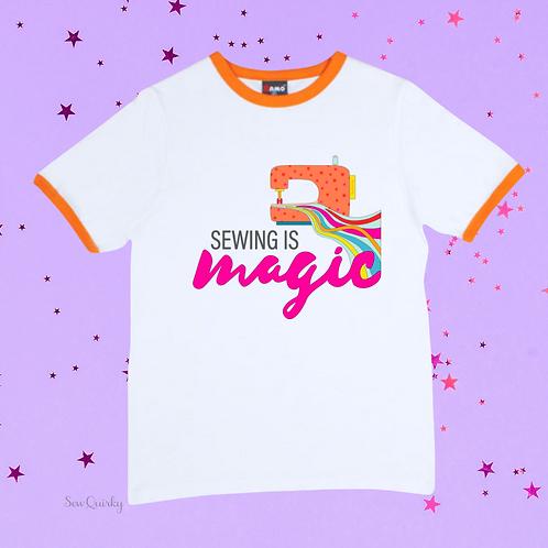 PREORDER XS-3XL Slim Fit - Sewing is MAGIC t-shirt