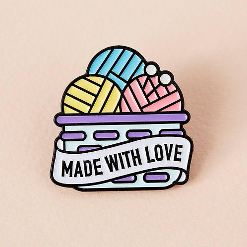 Made With Love Basket Enamel Pin