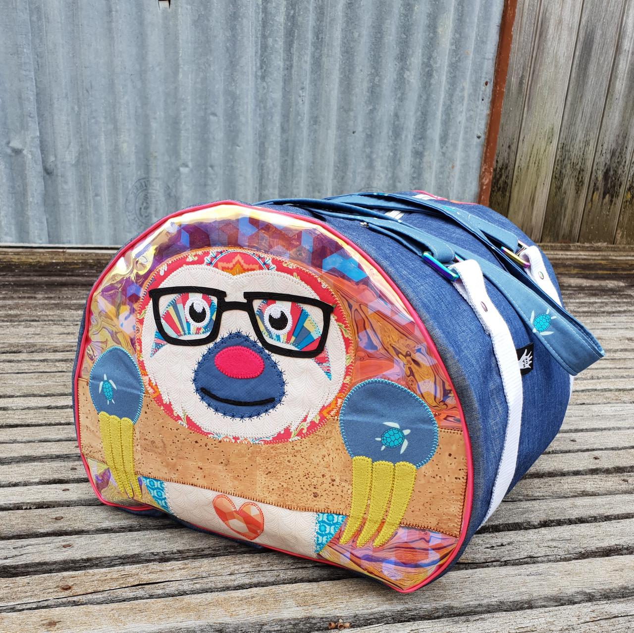 Cuddlee the sloth on little moo bag