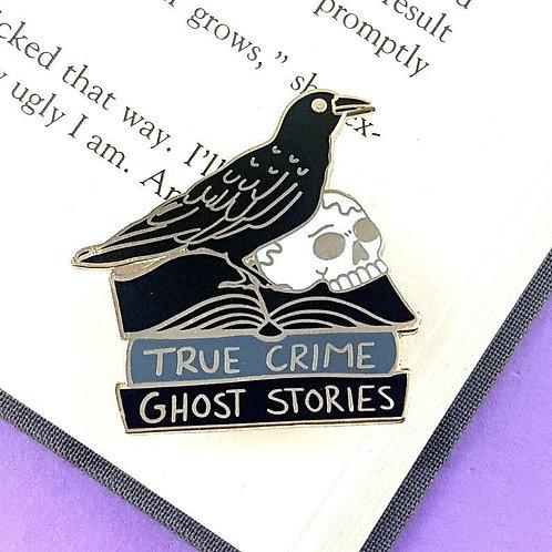 The black raven reader lapel pin
