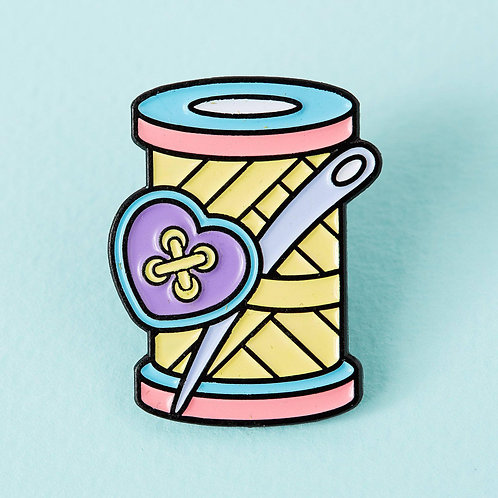 Punky Pins Needle & Thread Enamel Pin Punky Pins Needle & Thread Enamel Pin Pun