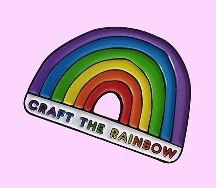 Craft The Rainbow Enamel Pin