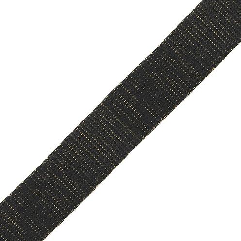 2m Black/Gold Shimmer Webbing