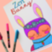 zen bunny colouring in page 2.PNG