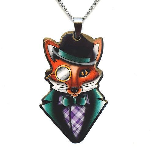 Felix the Fox Pendant Necklace