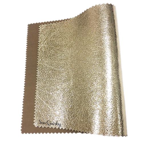 Metallic Soft Vinyl Roll - Bubbles Champagne