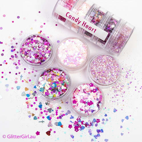 Glitter Girl Candy Heart Collection