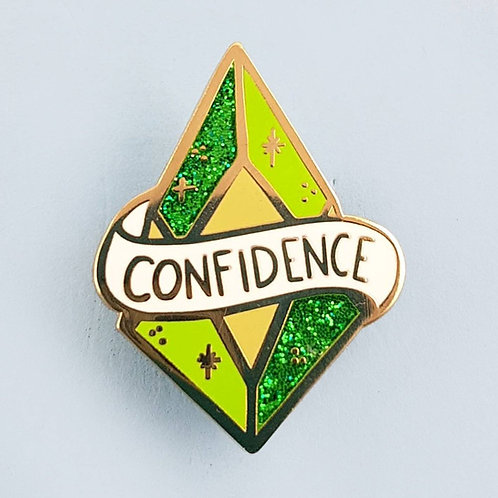 CRYSTAL OF CONFIDENCE LAPEL PIN