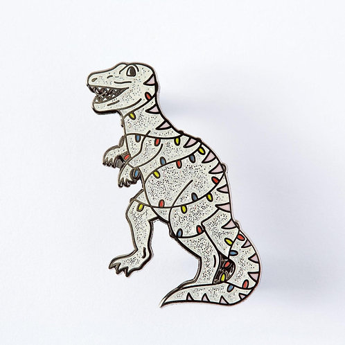 Christmas Dinosaur Enamel Pin