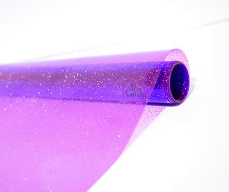 Purple Transparent Glitter Vinyl