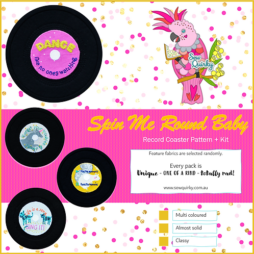 Spin Me Round Baby Record Coaster Pattern + Kit