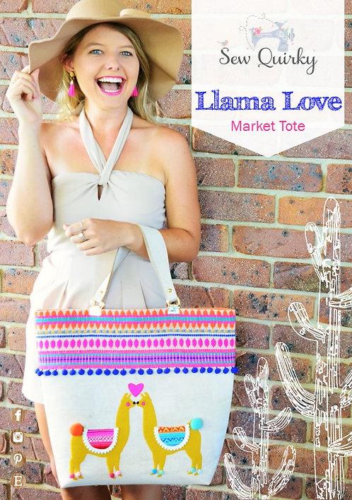 Llama Love Market Tote