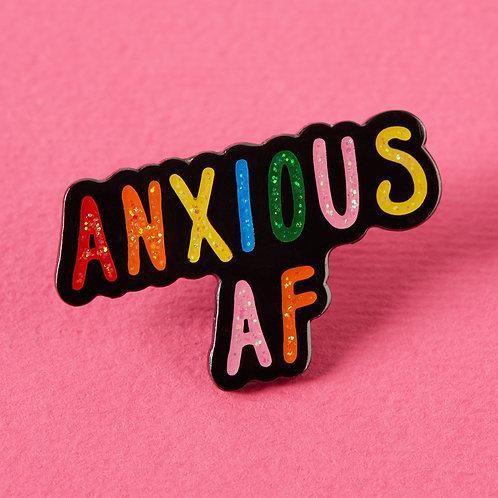 Anxious AF Enamel Pin