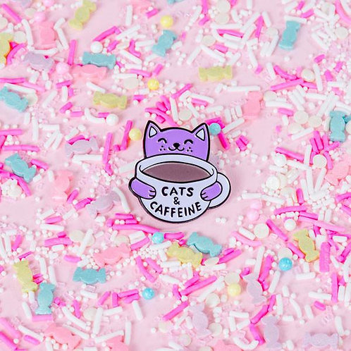 Cats & Caffeine Lapel Pin