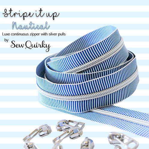 Stripe it Up Nautical Zipper by Sew Quirky