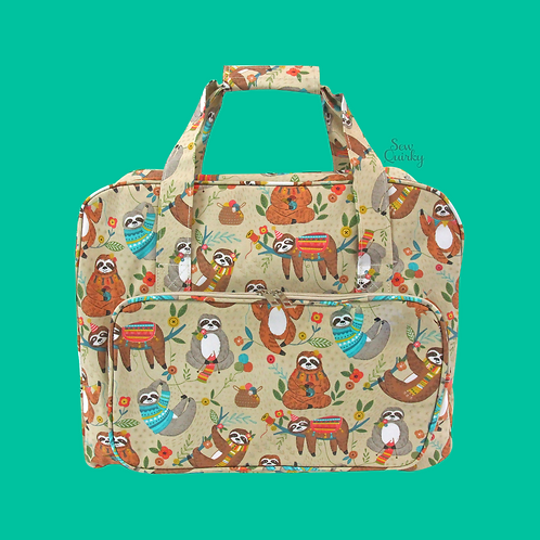 SEWING MACHINE CARRY BAG - sloth design