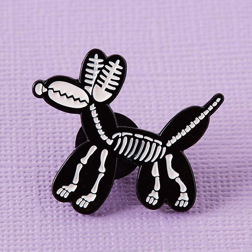 Balloon Animal Skeleton Enamel Pin
