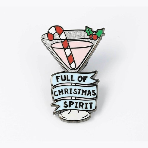 Full of Christmas Spirit Enamel Pin