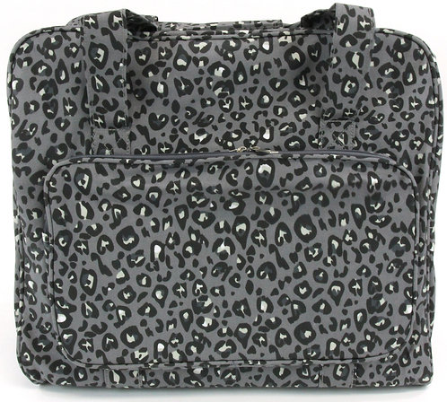 SEWING MACHINE CARRY BAG - leopard grey design