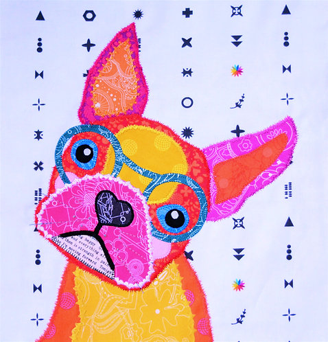 Pre-cut Kit: Frankie the Frenchie Pink/Orange/Yellow Colourway
