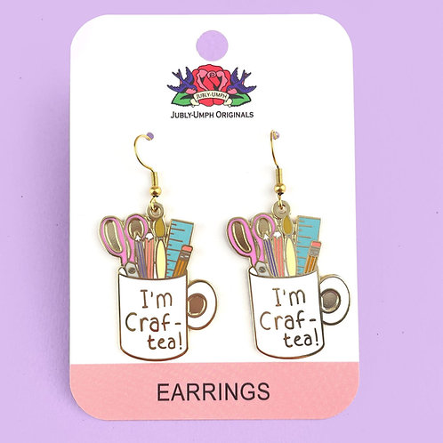 I'm Craft-Tea Earrings I'm Craft-Tea Earrings I'm Craft-Tea Earrings I'm Craft-