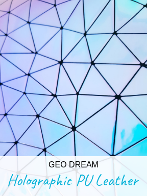 Geo Dream Holographic PU Leather