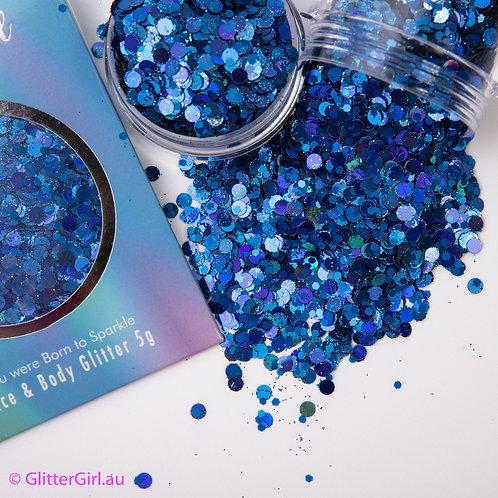 Glitter Girl Unicorn Glitter – Butterfly Blue 5g Pouch