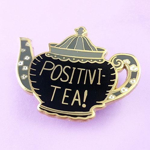 Positivi-tea-pot lapel pin